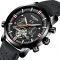 Men Top Brand Mechanical Watches Luxury Perpetual Tourbillon Automatic Waterproof Wrist Watch black