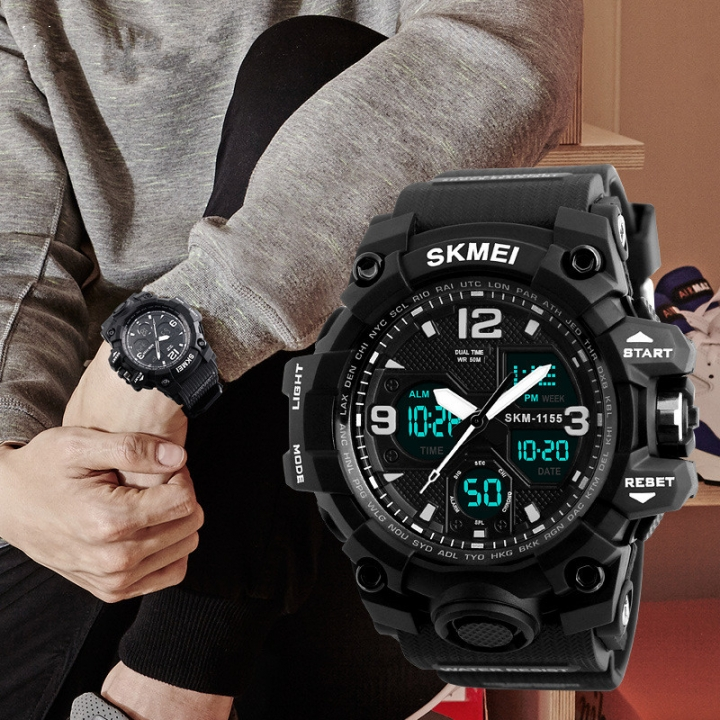 4912f0067 SKMEI Fashion Men's Quartz Digital Watch Men Sports Watches LED ...
