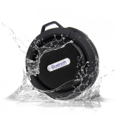 Ip65 Waterproof Mini Wireless Bluetooth Speaker usb Portable Speakers Mic Handsfree calls black 3.5in x 1.5in