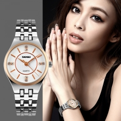 Women Quartz Watches Fashion Casual Dress Stainless Steel Ladies Watch Waterproof Wristwatches Gold