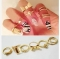Love bow tie skeleton joint arm ring cover nail ring combination ancient gold free size