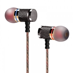 Professional In-Ear Earphone Metal Heavy Bass Sound Quality Music Earphone gold