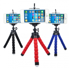 Mini Flexible Sponge Octopus Tripod iPhone Samsung Xiaomi Huawei Phone Smartphone Camera Accessory red 1 1 1