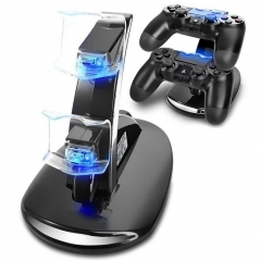 Controller Charger 4 PS4 Pro Slim Charging Docking Station Stand Dual USB Fast LED Indicator black