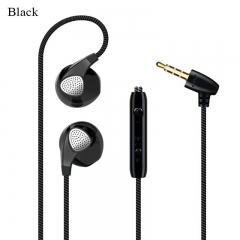Earphone Microphone In Ear Stereo Headphones Earbuds  Mic Calling for iPhone Android Smartphones black