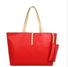 Joyism High Capacity Handbag Fashion Buckle Shoulder bag. One large and one small red f