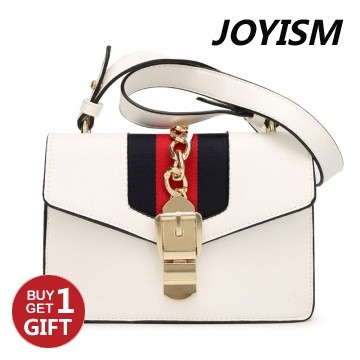 Joyism Handbag Europe New Tie Bags Tote Cross Pattern Platinum Bag white f