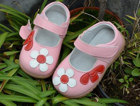 Mooie Kinderschoenen.Meisjes Schoenen Lederen Bloemen Wit Rose Kinderschoenen Goede