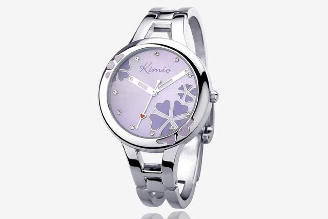 Merk Cocktailjurk.Vrouwen Merk Casual Mode Quartz Armband Horloge Rvs Clover Crystal