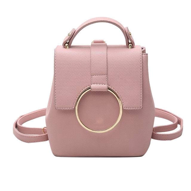 07c698b44c4 Vrouwen lederen rugzak rits grote schoudertas schooltassen voor  multifunctionele rugzak pink #01