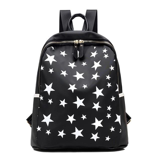 e5bd5556c40 Nylon rugzak vintage vrouw backpack schooltassen voor tieners vrouwelijke  zwarte kleine rugzakken 01 black #01
