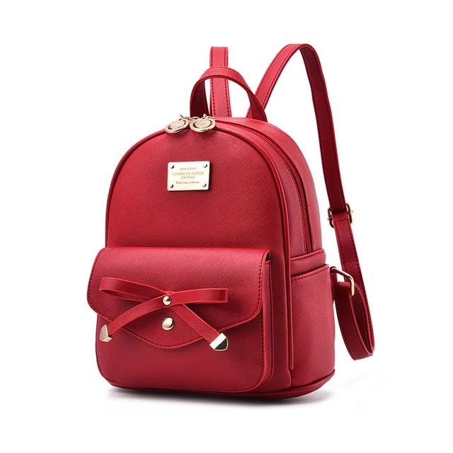 77f2c80e3e7 Vrouwen Rugzak PU Leer Dame Backbags Schooltassen Voor Tiener Meisjes  backpack wine red #01: Product No: 146841. Item specifics: Brand: