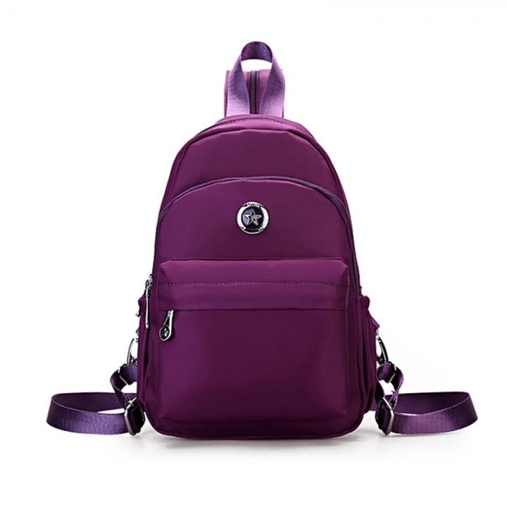 f4ce8cd7fc5e Little tas waterdichte nylon rugzak back schooltas school wind mini rugzak  tiener purple  01