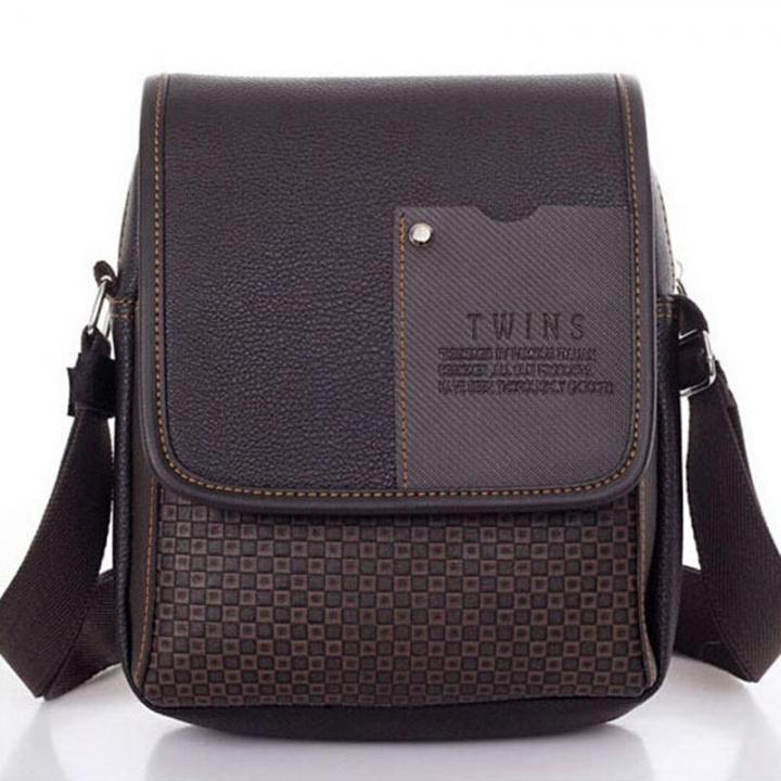 55a93e7598b PU Leer Mannen Tas Mode Mannen Messenger Bag kleine Business crossbody  schoudertassen brown #01