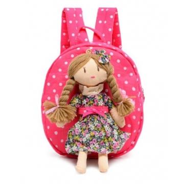 Children Canvas Cartoon Princeol Bags Girls Kindergass Schorten Backpack 2016 New Baby Backpack Bag Red 1