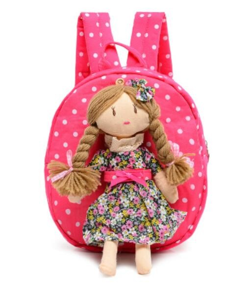 Children Canvas Cartoon Princeol Bags Girls Kindergass Schorten Backpack 2016 New Baby Backpack Bag Red 1