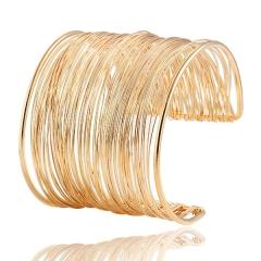 Fashion trend retro bracelet exaggerated punk temperament bracelet gold as picture