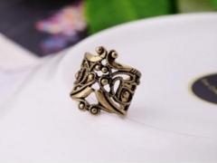 Retro Hollow U-shaped ear bone folder ear clip earrings bronze one size