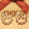 Fashion LOVE earrings imitated diamond earrings gold one size