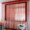 200cm x 100cm Silk Heart String Curtain Red 200*100cm