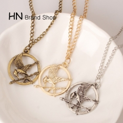 HN Brand-1Pcs/Set New Beautiful Mock a bird Necklace Pendant for Christmas Women Jewellery gold chain length:72cm