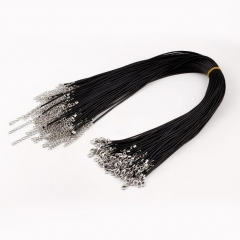 HN-1 Piece/Set New Retro Leather rope Necklaces Accessories Pendant Women And Men Jewellery Gift black chain length:50cm