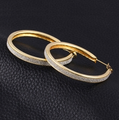 HN-1 Pair/Set New Beautiful dull polish alloy stud earring For Women Jewellery Gift gold as picture