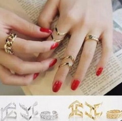 HN Brand-3 piece/Set New Beautiful Hollowed arrow Metal Rings Women Jewellery Christmas Gift gold as picture