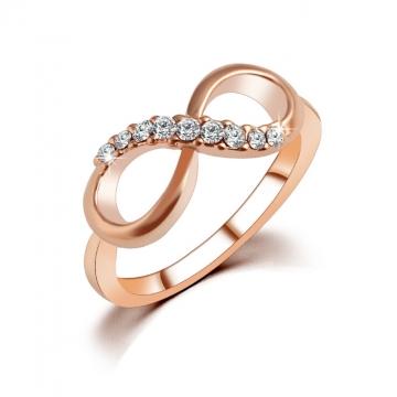 HN Brand-1 piece/Set New 8 character crystal zircon diamond Wedding Rings Women Jewellery Christmas gold 6