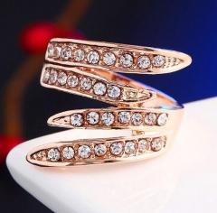 HN-1 piece/Set New Fashion18K diamond Cross luxury Necklace Wedding Rings Women Men Jewellery Gift gold 6
