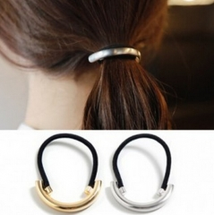 HN Brand-1 piece/Set New  cirque Elastic Alloy Hairpin For Women Hair Jewellery Accessories Gift gold Perimeter:6.5cm