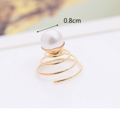 HN Brand-1 piece/Set New Star Pearl revolving screw hairpin For Women Hair Jewellery Accessories as picture 2 one size