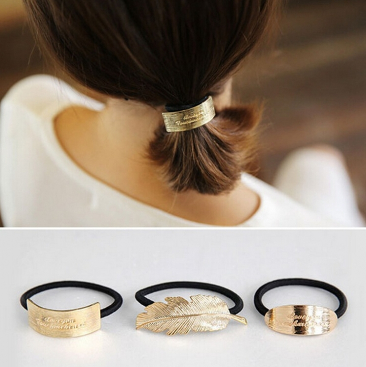 HN-1 piece/Set New Metal feather hair ornaments female Hair headdress accessories Women Jewellery Rectangle as picture
