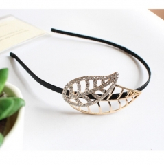 HN-1 piece/Set New Alloy Rhinestone Leaves hair hairpin accessories Women Hair Jewellery gold as picture