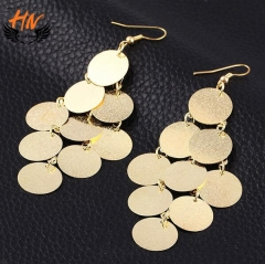 HN 1 Pair/Set New Fashion Exaggeration wafer Earrings Stud Earrings For Women Jewellery Gift gold as picture