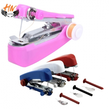 HN Brand-1Pcs/Set New Hand-Held Clothes Fabrics Sewing Machine Travel Use Mini Convenience Cordless Color random as picture