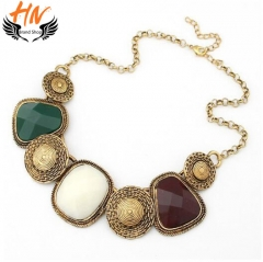 HN-1 Piece/Set New Luxury jewelry Alloy Necklaces Pendant Women Jewellery Gift as picture one size