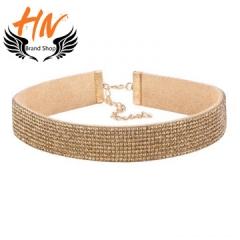 HN-1 Piece/Set New choker Multi-layer drill Diamonds Alloy Necklaces Pendant Women Jewellery Gift gold chain length:31.5cm