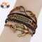 HN Brand 1 Piece/Set New Metal Retro fashion coin Bracelets Bangles Women Men Jewellery brown one size