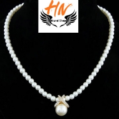 HN-1 Piece/Set New Fashion temperament Pearl Alloy Necklaces Pendant Women Jewellery Gift gold one size