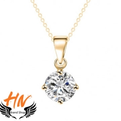 HN 1 Piece/Set New AAA zircon diamond love Alloy Necklaces Pendant Women And Men Jewellery Gift gold chain length:41cm