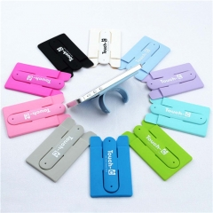 Silicone Smart Wallet Card Holder Sticks To Phone Back Mobile for Phones Random Color PH007 99
