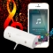Mini 3.5mm AUX Sound Stereo Speaker Portable Music Sound Louder Amplifier Speaker for Phone/Computer White for Phone