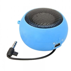 Mini Speaker Portable Hamburger Speakers Small Burger Music Plyer For Phone PC Table Blue for Phone