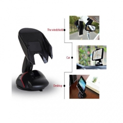 Car Phone Holder Auto Phone Holder Dashboard Windshield Phone Holder Mouse Stand Mount Support Black PH214 99