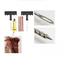 Car Tire Repair Tool Kit for Tubeless Emergency Tyre Fast Puncture Plug Repair Block Air Leaking