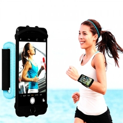 Rotatable Breathable Sport Wrist Belt Phone Armband Phone Holder Arm Bag Wrist Bag Blue PH414 99