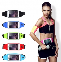 Sports Outdoor Gym Waist Phone Case For Phone Card Holder Earphone Hole Belt Running Wallet Bags Rose Red PH417 99