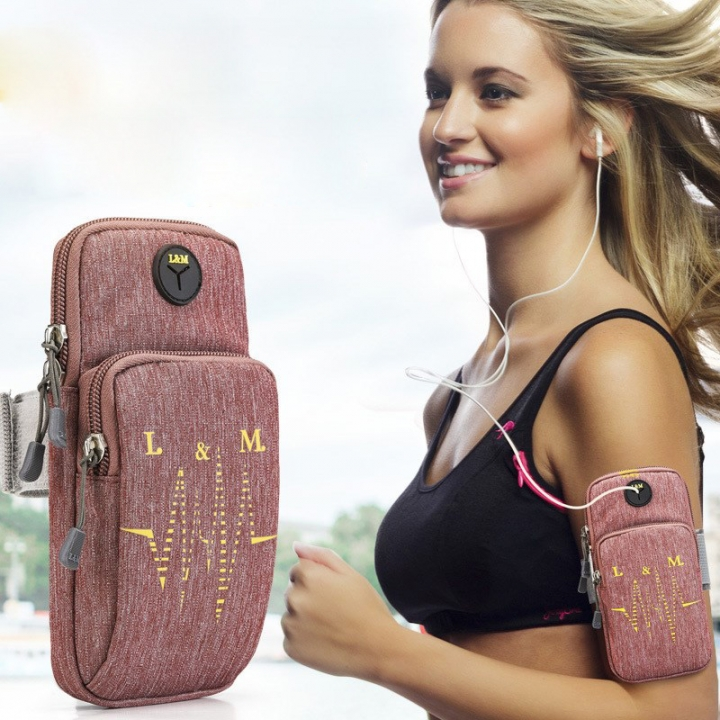 Running Bag Sport Arm Bag For Phone Arm Band Phone Case Adjustable Waterproof Nylon Jogging Red PH421 99