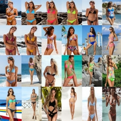 Women Sexy Bikini Set Swimsuit Bandeau Push Up Swimwear Bathing Suit Beachwear 1#-S S-M-L
